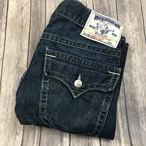 True Religion Jeans Boot Cut 30 x 34 Long Dark